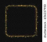 square frame with magic light... | Shutterstock .eps vector #656237950