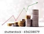 coins stacks with a growth...   Shutterstock . vector #656238079