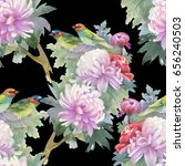 seamless pattern of pink... | Shutterstock . vector #656240503