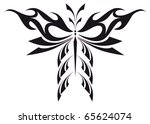 abstract tattoo   a magic... | Shutterstock .eps vector #65624074