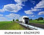 truck transportation   Shutterstock . vector #656244190