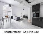 modern apartment in industrial... | Shutterstock . vector #656245330