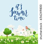 summer or spring landscape for... | Shutterstock .eps vector #656249800