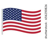 isolated american flag on a... | Shutterstock .eps vector #656250826