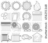 heat cool air flow tools icons...   Shutterstock .eps vector #656251168