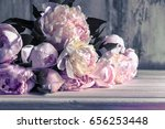 bouquet of peonies  beautiful...   Shutterstock . vector #656253448