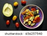 baked vegetables in a bowl.... | Shutterstock . vector #656257540