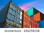 industrial containers box from... | Shutterstock . vector #656258158