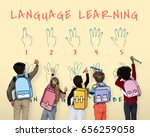sign language number... | Shutterstock . vector #656259058