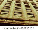 vintage building in sepia | Shutterstock . vector #656259310