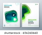 paper cut brochure design paper ... | Shutterstock .eps vector #656260660