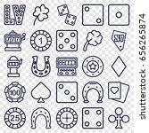 luck icons set. set of 25 luck... | Shutterstock .eps vector #656265874