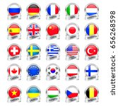 silver medals flags | Shutterstock .eps vector #656268598