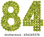 arabic numeral 84  eighty four  ...   Shutterstock . vector #656269378