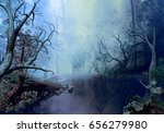 3d illustration of forest... | Shutterstock . vector #656279980