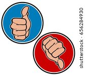 thumbs up and down icons | Shutterstock .eps vector #656284930