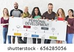 success progress personal... | Shutterstock . vector #656285056