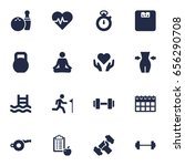 set of 16 training icons set... | Shutterstock .eps vector #656290708