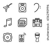 bass icons set. set of 9 bass... | Shutterstock .eps vector #656290996