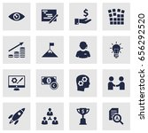 set of 16 idea icons set... | Shutterstock .eps vector #656292520