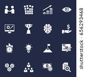 set of 16 strategy icons set... | Shutterstock .eps vector #656293468
