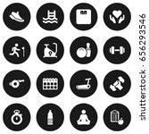 set of 16 training icons set...   Shutterstock .eps vector #656293546