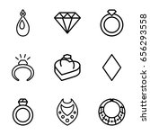 diamond icons set. set of 9... | Shutterstock .eps vector #656293558