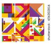 trendy geometric elements... | Shutterstock .eps vector #656302816