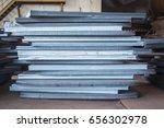 steel texture  steel stack ...   Shutterstock . vector #656302978