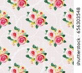 seamless floral pattern with... | Shutterstock .eps vector #656303548