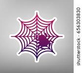 spider on web illustration.... | Shutterstock .eps vector #656303830