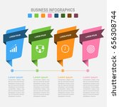 four banners for infographics ... | Shutterstock .eps vector #656308744