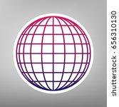 earth globe sign. vector.... | Shutterstock .eps vector #656310130