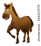 horse with brown fur...