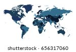 world map in colour.... | Shutterstock .eps vector #656317060
