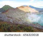 mount bromo volcano  east java  ... | Shutterstock . vector #656323018