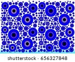 abstract blue circles | Shutterstock .eps vector #656327848