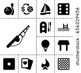 leisure icon. set of 13 filled... | Shutterstock .eps vector #656329456