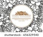 vintage delicate invitation...   Shutterstock .eps vector #656329540