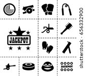 fight icon. set of 13 filled... | Shutterstock .eps vector #656332900