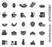 breakfast icons black edition | Shutterstock .eps vector #656333884