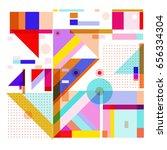 trendy geometric elements... | Shutterstock .eps vector #656334304
