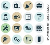 industry icons set. collection... | Shutterstock .eps vector #656342230