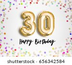 30th birthday celebration with... | Shutterstock . vector #656342584