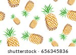 hand drawn colored seamless... | Shutterstock .eps vector #656345836
