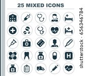 antibiotic icons set.... | Shutterstock .eps vector #656346784