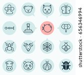 nature icons set. collection of ... | Shutterstock .eps vector #656346994