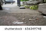 dirty syringe needle on streets | Shutterstock . vector #656349748