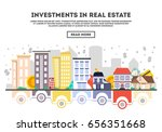 investments in real estate... | Shutterstock .eps vector #656351668