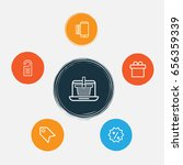 commerce icons set. collection... | Shutterstock .eps vector #656359339